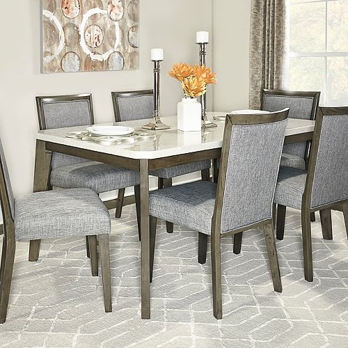 Powell Primm Dining Table & Chairs 7-piece Set