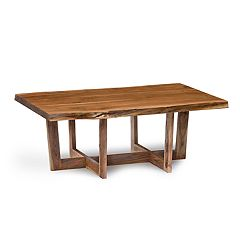 Alaterre Furniture Berkshire Live Edge Criss-Cross Large Coffee Table