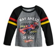 "Toddler Boy Hot Wheels ""Way Ahead of You"" Raglan Graphic Tee"