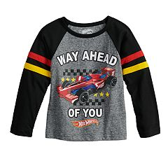 Toddler Boy Hot Wheels 'Way Ahead of You' Raglan Graphic Tee