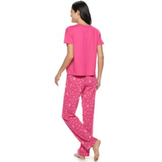 Juniors' SO® Boxy Tee & Pants Pajama Set