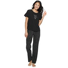698342ab96 Juniors  SO® Boxy Tee   Pants Pajama Set