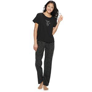 0848e1e790 Juniors  PJ Couture Microfleece Sleep Tee   Banded Bottom Sleep Pant ...