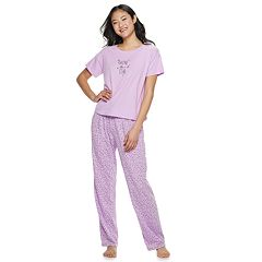 Juniors' SO® Boxy Tee & Pants Pajama Set