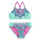 Girls 7-16 SO® Mandala Majesty Bikini Top & Bottoms Swimsuit Set