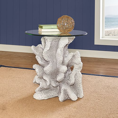 Powell Faux Reef End Table