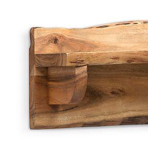 Alaterre Furniture Alpine Live Edge Wood Mantel Wall Shelf