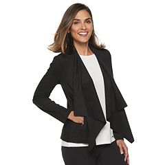 Women's Dana Buchman Faux-Suede Open Front Jacket