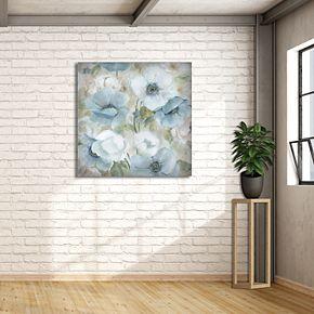 "New View Pastel Garden I 35"" x 35"" Canvas Wall Art"