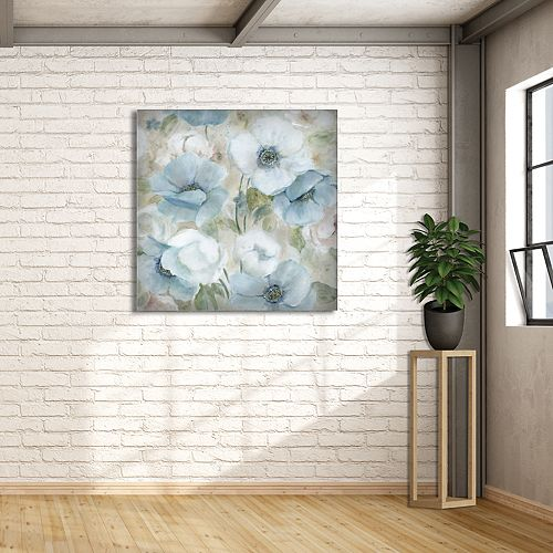 "New View Pastel Garden I 35"" x 35"" Canvas Wall Art"