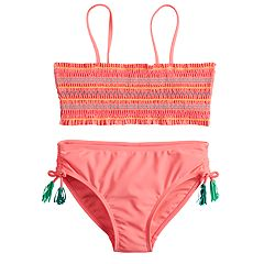 Girls 7-16 SO® Smocket Top & Bottoms Swimsuit Set