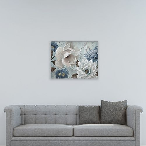 "New View Light Blue Story I 22"" x 28"" Canvas Wall Art"