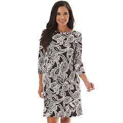 1c238b1142 Petites Apt. 9® Print Rouched-Sleeve Swing Dress