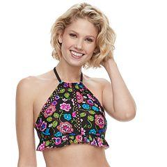 Womens Aqua Couture Halter Bikini Top