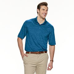 Big & Tall Haggar Cool 18® Pro Classic-Fit Space-Dye Performance Polo