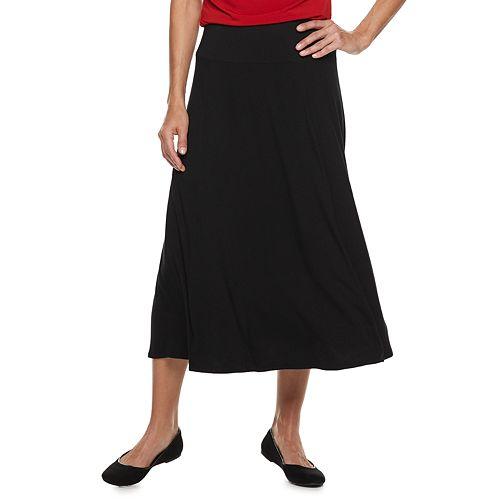 Women's Dana Buchman Black Midi Skirt