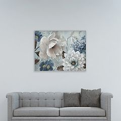 New View Light Blue Story I 30' x 40' Canvas Wall Art