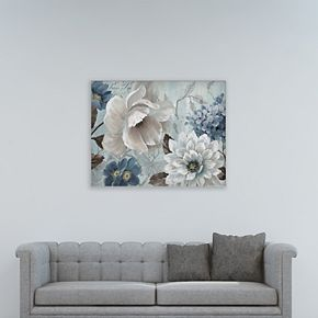 "New View Light Blue Story I 30"" x 40"" Canvas Wall Art"