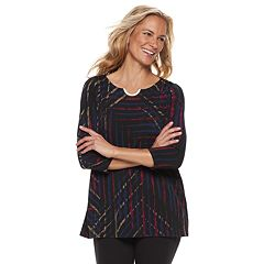 Women's Dana Buchman Print Metal-Accent Tunic