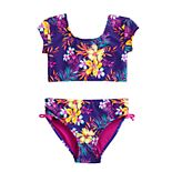Girls 7-16 SO® Tropic Bikini Top & Bottoms Swimsuit Set
