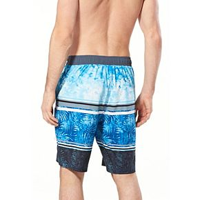 Men's Speedo Washed Striped Palm Board Shorts