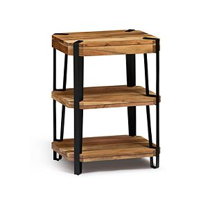 Alaterre Furniture Ryegate Live Edge 2-Shelf End Table