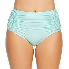 Women's Aqua Couture High-Waist Bikini Bottoms