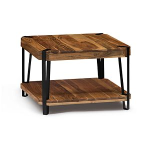 Alaterre Furniture Ryegate Live Edge Cube Coffee Table