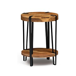 Alaterre Furniture Ryegate Live Edge Round End Table