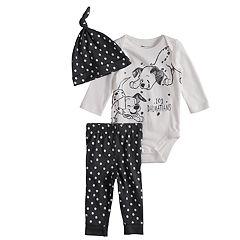 Disney's 101 Dalmatians Baby Graphic Bodysuit, Print Pants & Hat Set by Jumping Beans®