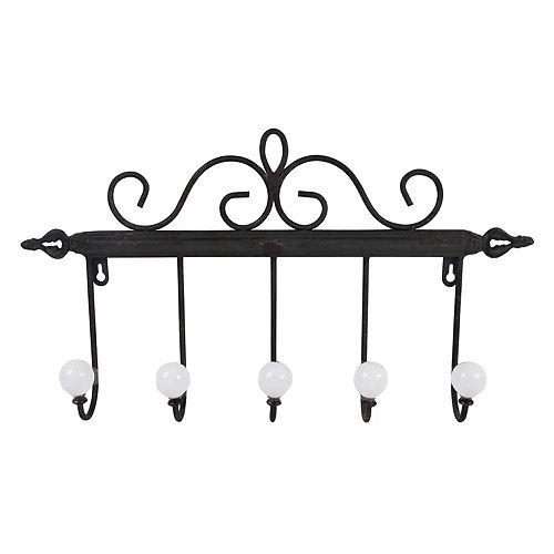 Belle Maison Scroll 5-Hook Wall Decor