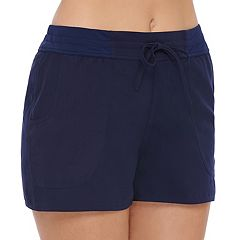 Women's Croft & Barrow® Tummy Slimmer Tactel Swim Shorts