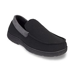 Men's HeatKeep Textured Jersey Venetian Moccasin Slippers