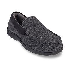 Men's HeatKeep Textured Jersey Venetian Moccasin Slippers