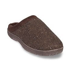 Men's Heat Keep Textured Jersey Venetian Clog Slippers