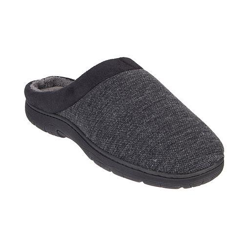 Men's HeatKeep Textured Jersey Venetian Clog Slippers