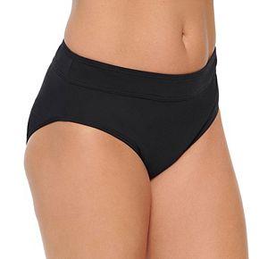 Women's Croft & Barrow® Tummy Slimmer Midrise Bikini Bottoms