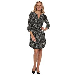 Women's Dana Buchman Henley Shirt Dress