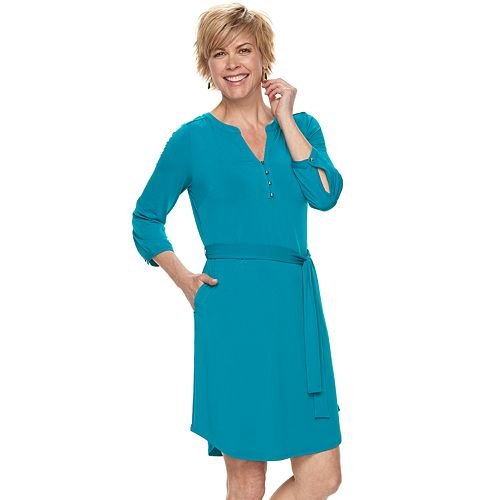 Women's Dana Buchman Henley Shirt Dress