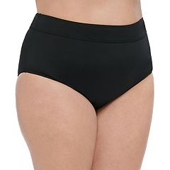 Plus Size Croft & Barrow® Tummy Slimmer Midrise Bikini Bottoms