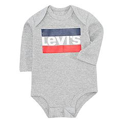 Baby Boy Levi's Logo Long Sleeve Bodysuit