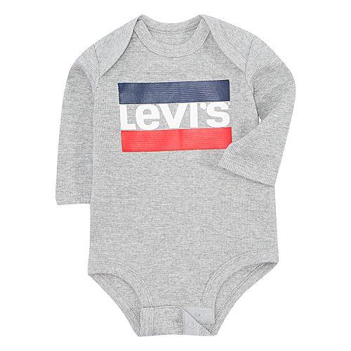 Baby Boy Levi's Logo Long Sleeve Bodysuit