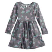 Toddler Girl Jumping Beans® Long-Sleeve Print Skater Dress