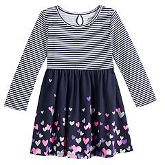 Toddler Girl Jumping Beans® Long-Sleeve Print Skater Dress