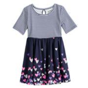 Toddler Girl Jumping Beans® Elbow-Sleeve Print Skater Dress