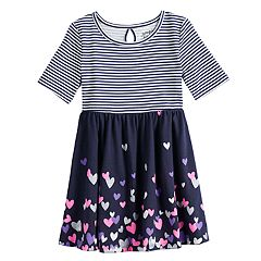 Toddler Girl Jumping Beans® Elbow-Sleeve Print Skater Dress