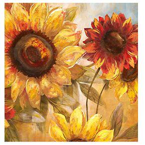 "New View Sunflower Cheer 20"" x 20"" Canvas Wall Art"