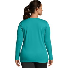 Plus Size Just My Size Cool Dri Performance Long Sleeve Top