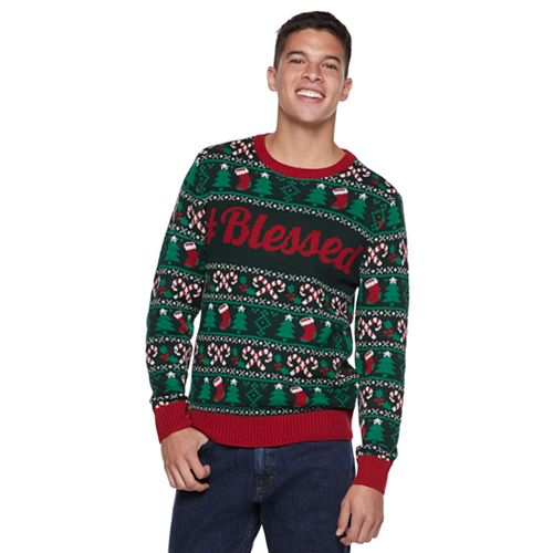 "Men's ""Blessed"" Christmas Sweater"