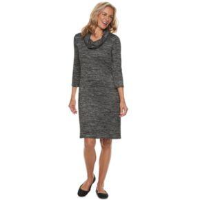 Women's Dana Buchman Space-Dyed Cowlneck Sweater Dress
